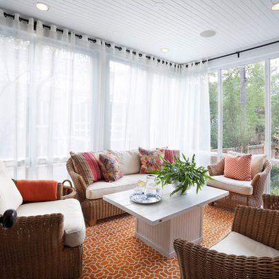 Decor where we are for Window covering ideas for sunrooms