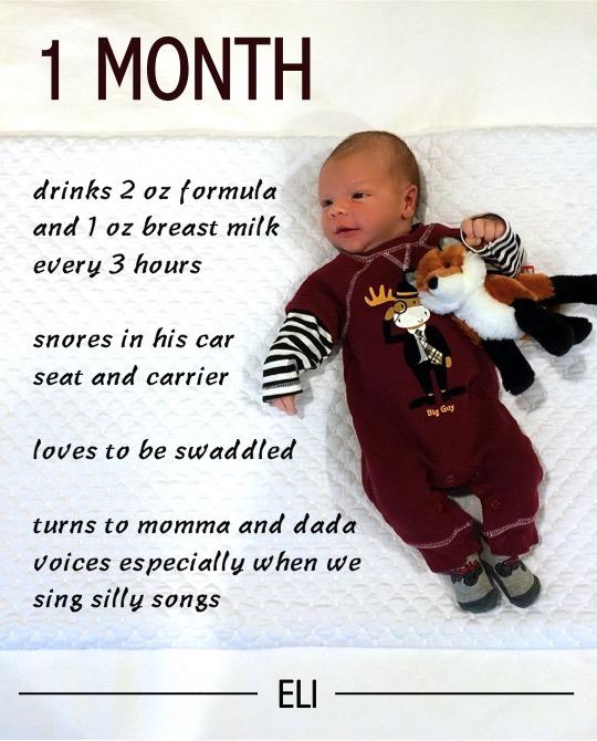 Eli 1 Month